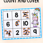 Unicorn Count and Cover Counting Activity