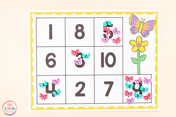 A hands-on way to learn numbers and practice counting this spring.