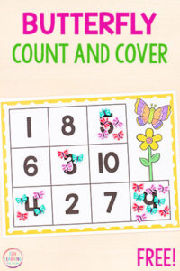 These butterfly count and cover mats are perfect for spring literacy centers and make learning to count so much fun!