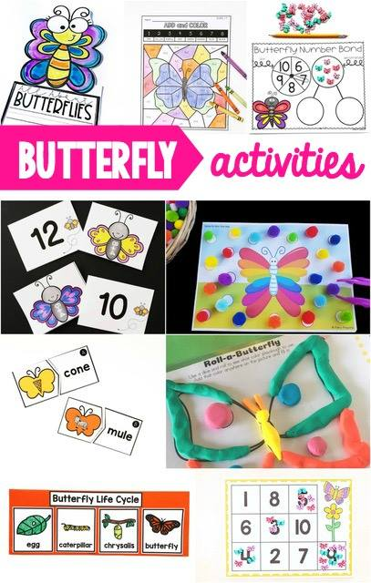 Butterfly activities that are perfect for spring theme lesson plans and spring centers.