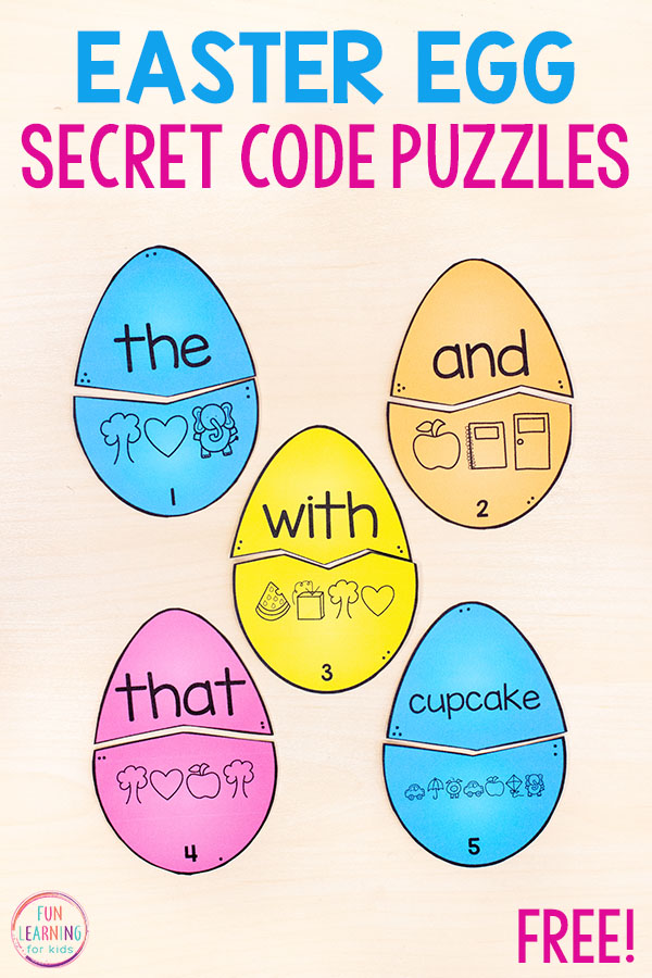 These easter secret code puzzles are perfect for learning sight words and spelling words. Add them to your Easter literacy centers this spring.