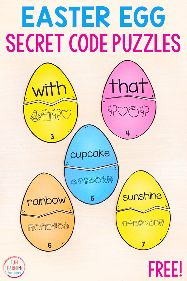 A fun Easter sight word activity for students in kindergarten, first grade, or second grade.