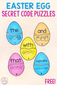 Easter Secret Code Puzzles