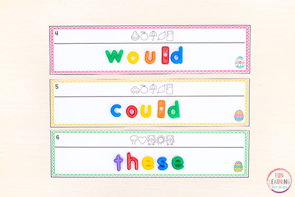 These secret code word cards are perfect for Easter literacy centers.