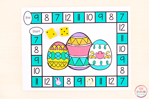 A fun Easter activity that teaches math and literacy skills.