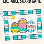 Editable Easter Board Game