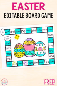 Editable Easter Board Game