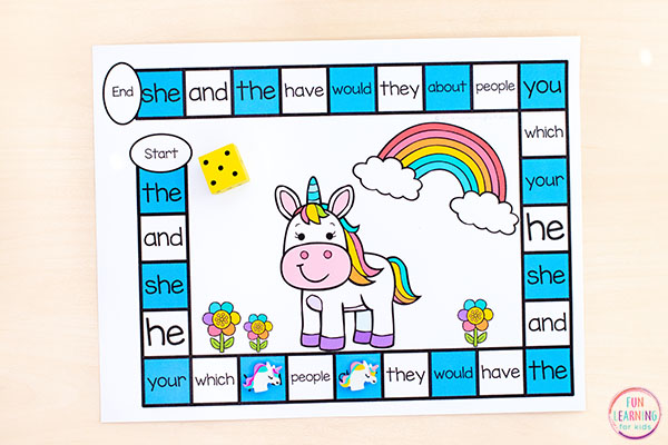 A fun unicorn activity for students in preschool, kindergarten, first grade and second grade.