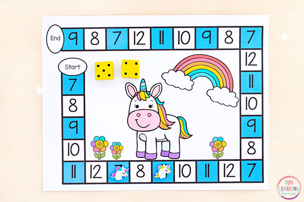 Add this unicorn activity to your math centers for lots of fun and learning.