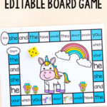 Editable Unicorn Board Game