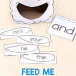 Editable Rain Cloud Feed Me Sight Words Activity
