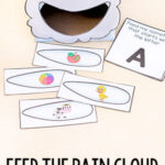 Rain Cloud Feed Me Beginning Sounds Alphabet Activity