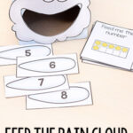 Rain Cloud Feed Me Numbers Math Activity