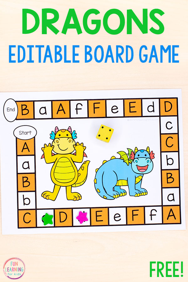 A fun dragon activity that teaches math and literacy skills.
