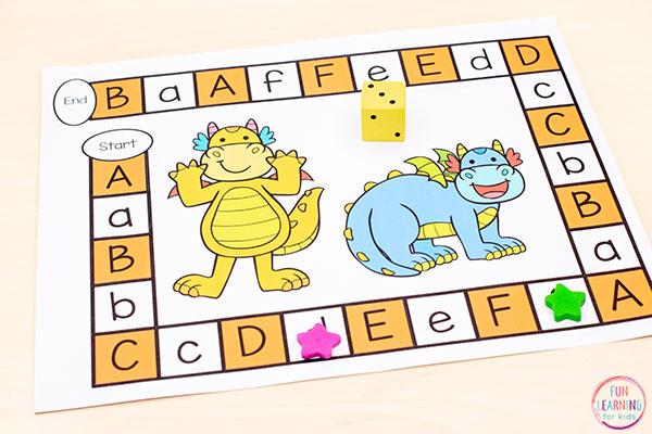 A fun editable board game with a dragon theme.