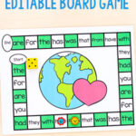 Editable Earth Day Board Game
