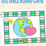 Editable Earth Day Board Game