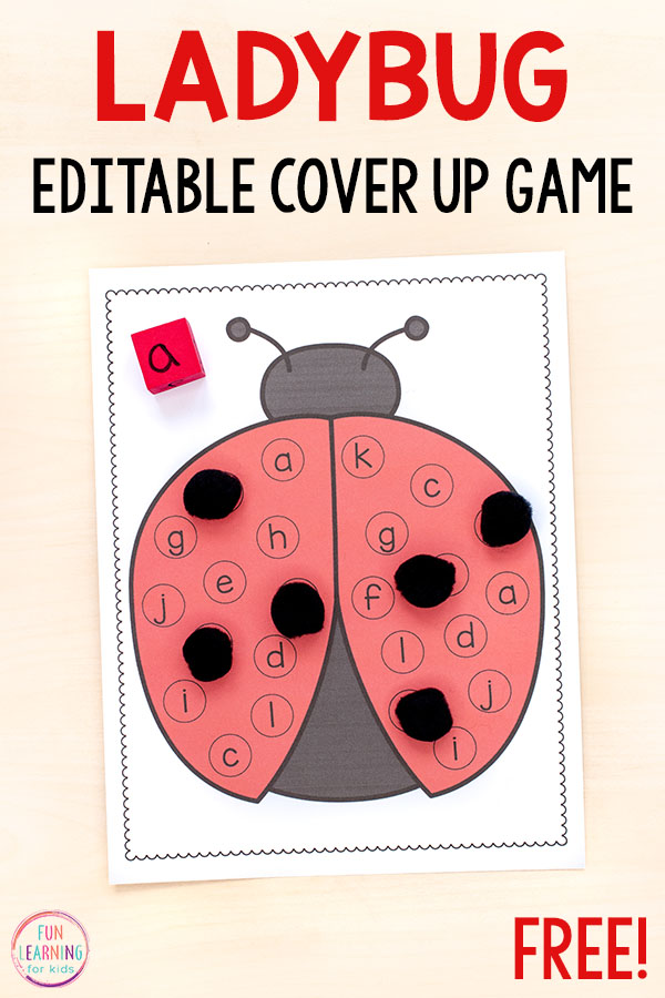 This ladybug alphabet activity will make learning letters and letter sounds so much fun this spring!
