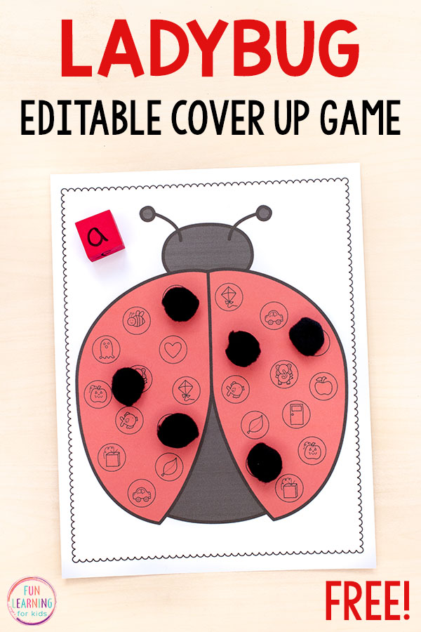 A fun ladybug beginning letter sounds activity for spring!
