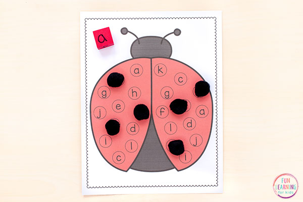 A ladybug alphabet activity for your insect theme!