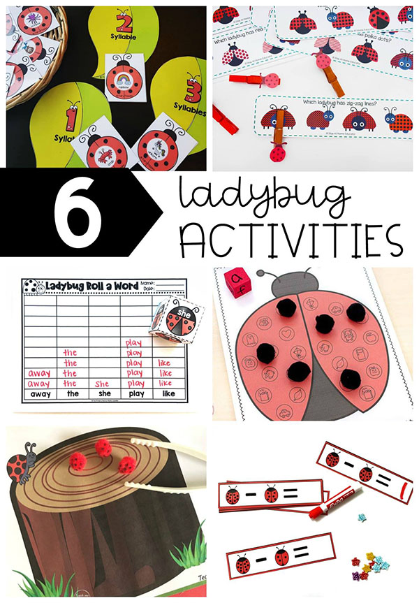 These ladybug activities are perfect for preschool and kindergarten.