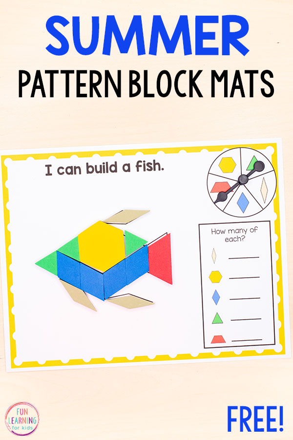 Summer ocean or beach theme pattern block mats.