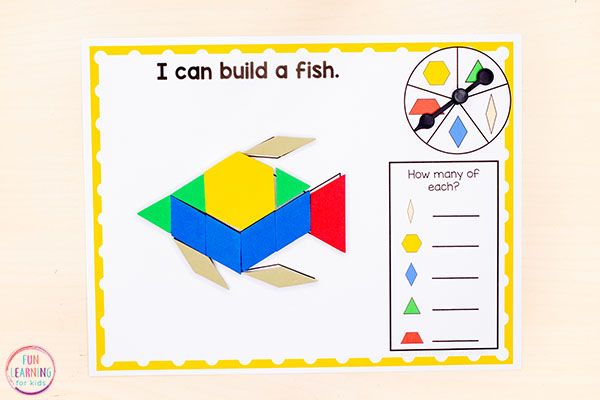 These summer pattern block mats are perfect for math centers or your shape unit.