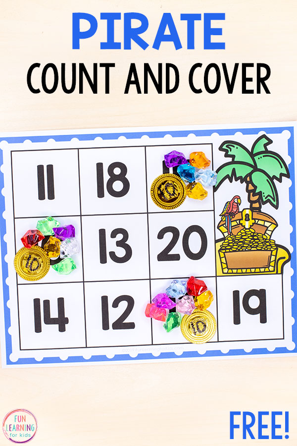 Try this pirate activity for a fun way to learn numbers and counting in kindergarten and preschool.