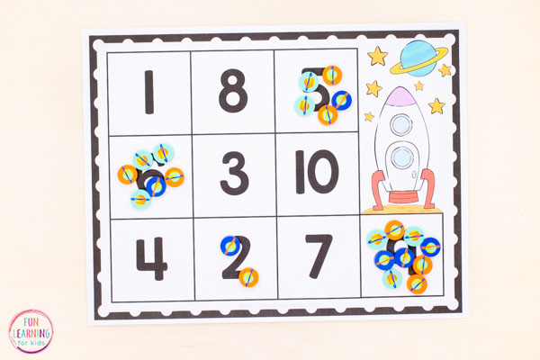 A space math activity for early elementary.