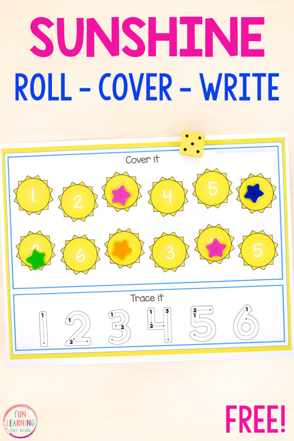 These sun roll and cover mats make learning letters and numbers so much fun this summer! Perfect for math centers and literacy centers.