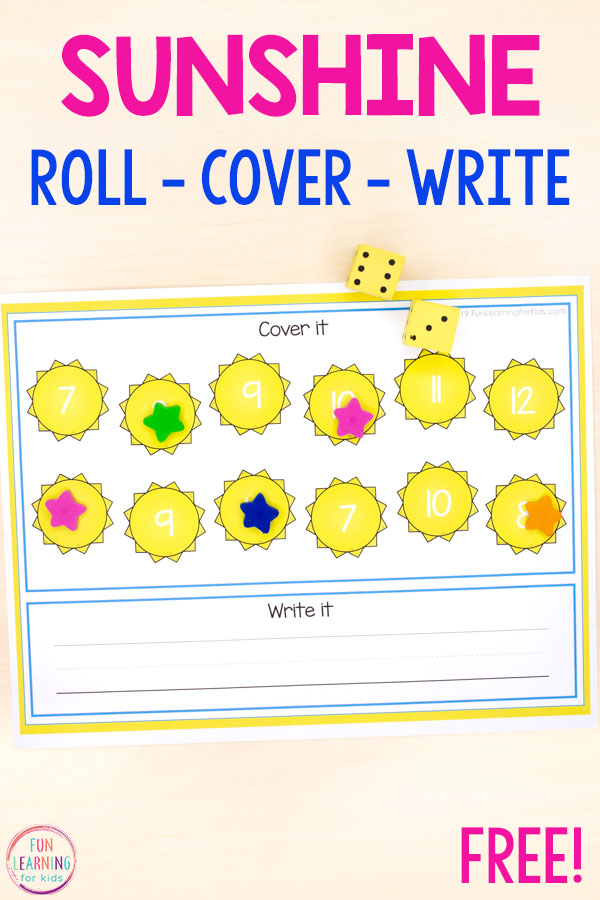 These sun roll and cover mats make learning letters, letter formation, numbers and number formation a fun, hands-on way to learn this summer.