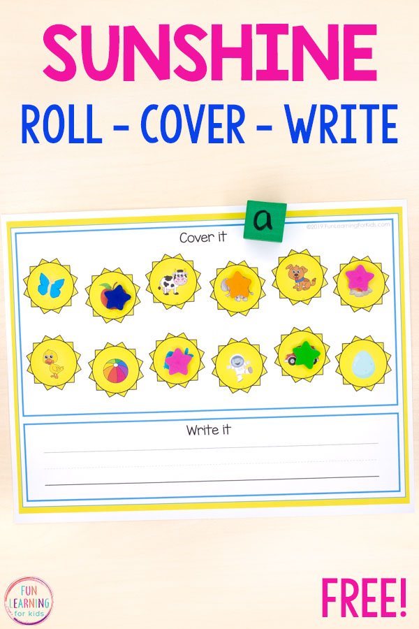 Use these sun roll and cover mats to teach math and literacy skills in preschool and kindergarten this spring and summer.