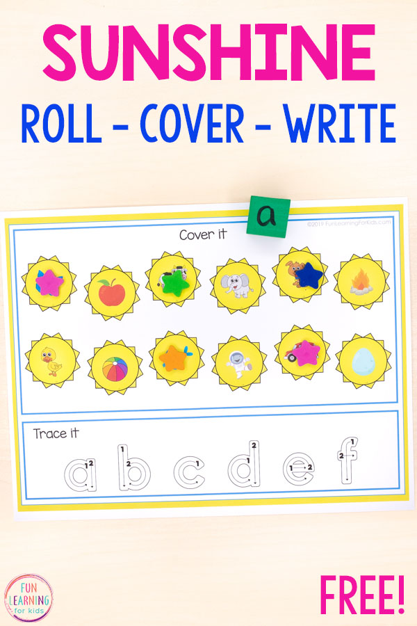 Fun sun themed math and literacy activities for kids.