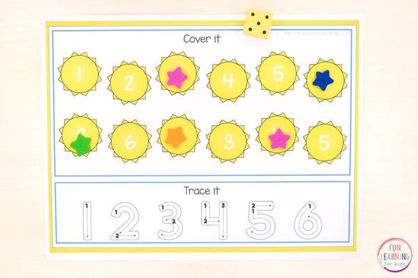 A fun sunshine activity for preschool and kindergarten.
