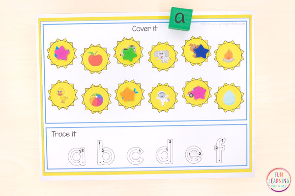 A fun summer theme alphabet and numbers activity for kindergarten and preschool.