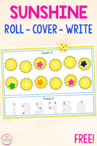 A fun summer math and literacy activity for centers in preschool and kindergarten.
