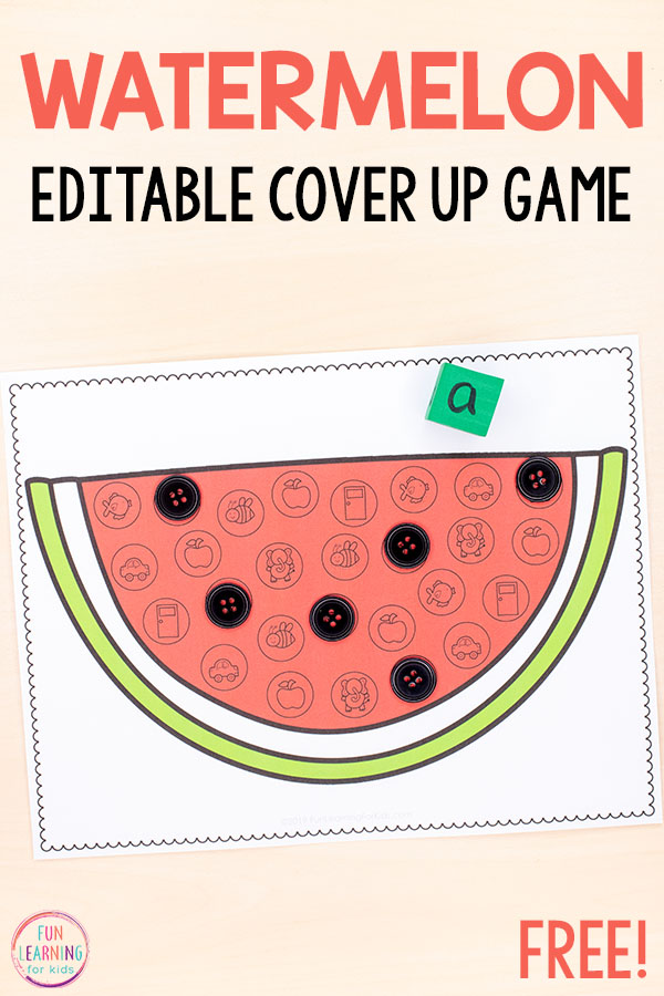 A fun watermelon alphabet activity for kids in kindergarten or even preschool. Add to your alphabet centers or literacy centers this summer.
