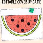 Watermelon Cover Up Alphabet Activity