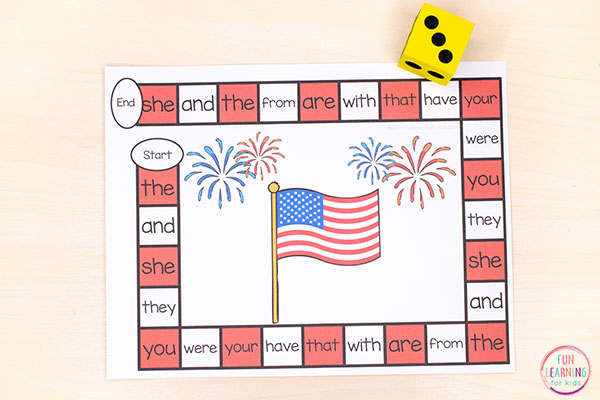 A fun 4th of July activity for kids to play and learn this summer!