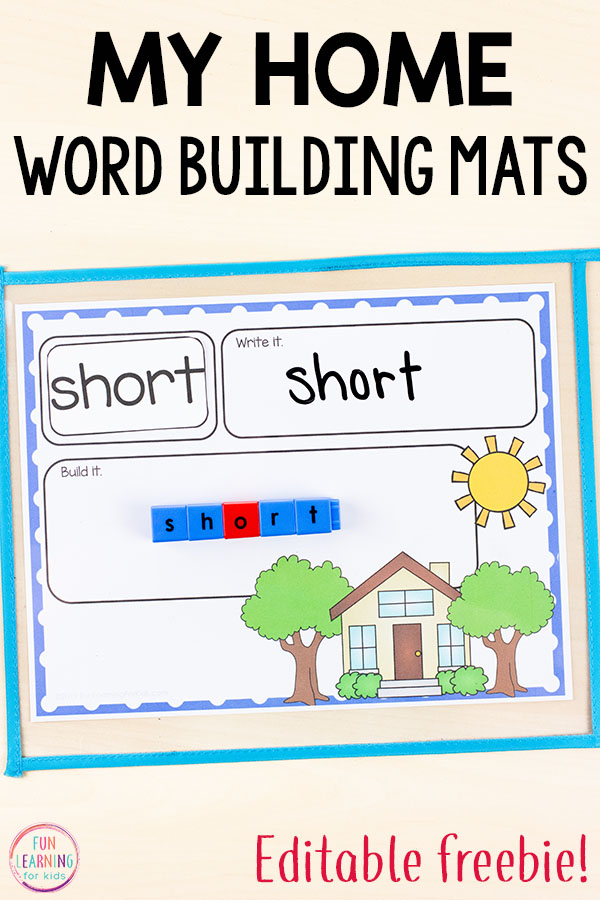 Use these word building mats for word work during your all about me theme. Perfect for literacy centers or small group instruction.