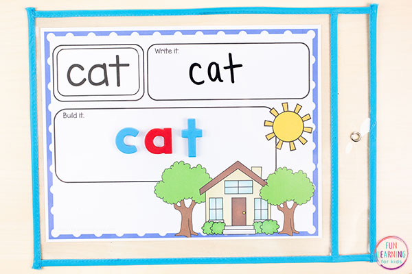 Fun word work activity or sight words activity for your all about me theme in kindergarten, first grade or second grade. Add them to your literacy centers for differentiated word work practice.