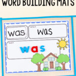 Editable My Home Word Building Activity Mats