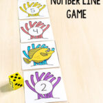 Ocean Fish Number Line Game Math Activity
