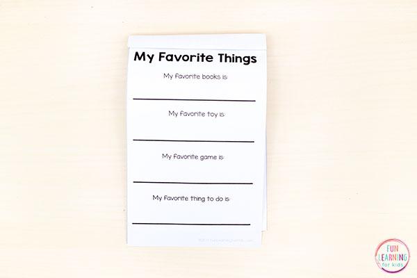 All About Me mini books for preschool, pre-k and kindergarten.