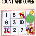 Apple Count and Cover Numbers Activity