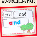 Editable Apple Word Building Activity Mats