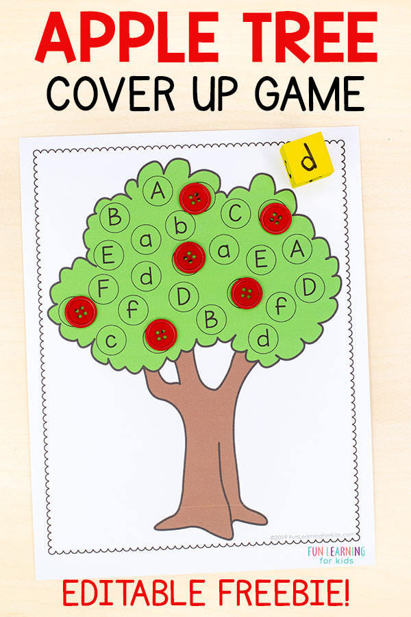 Teach letters and letter sounds with this apple literacy activity for kindergarten and preschool. Perfect for your apple theme lesson plans.