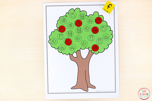 Teach letter sounds with this fall apple activity.