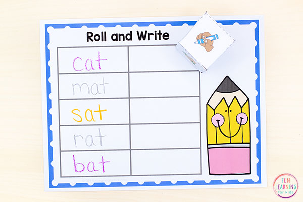 Grab this free printable sight word activity to learn sight words and spelling words. Perfect for word work!