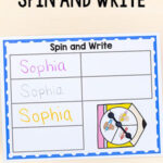 Spin and Write Your Name Activity for Back to School